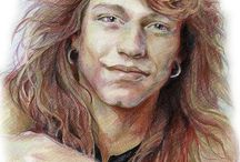 My rock stars drawings / Drawings portraits of Rock Stars. Celebrities, rock music, illustrations, drawings, graphics, portraits, art.
