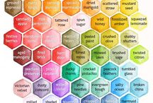 Color Charts for Stamping / Color Charts with various inks for stamping