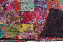 Kantha Cotton queen blanket, Reversible Quilt, Cotton bedroom Bediing Floral Gudri Bedspreads