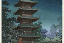 japanische Holzschnitte