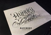 razenkov lettering tattoo / tattoo font sketch