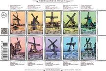 Ansichtkaarten en Molen postzegels 2013