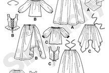 střihy, kostými / Šití oblečení, dobových kostýmů i na panenky. Nápady do bytu