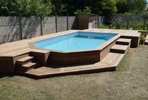 piscine semi  enterree