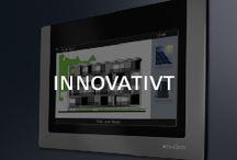 Schueco – Innovativt / Glaspartier som öppnas och stängs med en knapptryckning. Automatisk ventilation. Jalusier som anpassar sig efter vind, temperatur och solens läge. Schüco utvecklar ständigt nya smarta lösningar.