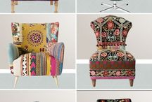 bohemian furniture / by Erica Kenny Leblanc