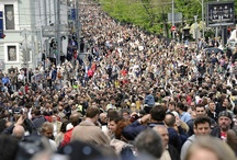 Writers march in Moscow