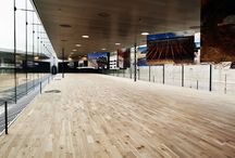 Custom Oak / Architects BIG designed the stunning M/S Maritime Museum in Helsingor, Denmark. We worked closely with them to develop a custom, brushed solid Oak floor.