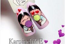 Walentynki nails