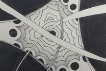 Tangling Time / Here are some of the tiles (3.5 inch squares) that I have created. Most of the time I practice Zentangle® to focus myself before quilting, teaching or giving a lecture. It focuses me on what I am doing rather than everything else that is going on. If you are not familiar with  Zentangle® come and take a class with me (I am a CZT, Certified Zentangle Teacher). You can find a schedule on my website http://studionysha.com or find a CZT near you by visiting https://www.zentangle.com/teachers.php