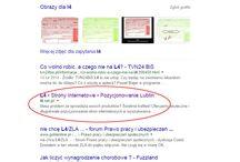 Pozycjonowanie / Pozycjonowanie stron internetowych w wyszukiwarce Google