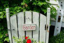 zahrada, stromy, kriky kvety
