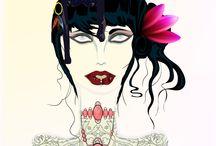 Gatos ilustraciones / Ilustraciones