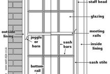 Anatomy of a Sash / Detailed drawings of Sash WIndows.
