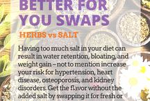 Better For You Swaps / Swap out for a healthier, beneficial life by following these tips. #health #food