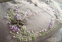 Лаванда вышивка. Кошелёк с фермуаром. / Для всех любителей стиля прованс и лаванды. Здесь представлены мои работы с ручной вышивкой.