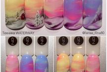 uñas de pintura acrilica