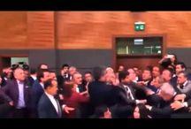 Pelea en el parlamento de Turquía