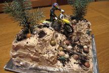 Dirt bike cakes