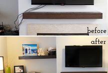 Hide TV cords / by Crystal Jacobsen Shrader