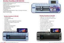 Mesin Cutting Terbaru Brother ScanNCut 2 CM 650, CM 350 dan CM 550 DX
