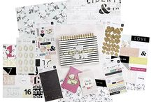 C'est La Vie / A sophisticated,  new paper collection featuring bright colors,  rustic textures, and chic typography.  Fun new products like Mirror Stickers,  Cork Glitter Heart Stickers, and beautiful  Spiral Notebooks, allow you to easily create  on-trend, upscale projects in a flash. Ooh la la! / by Pink Paislee