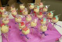 cake pops fiori e farfalle