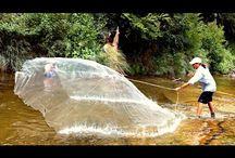 Рыбалка кастинговой сетью закидушкой (Парашут)…