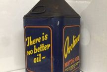 OVOLINE VINTAGE AUTOMOBILIA OIL CANS / Visit our website to see our full range of automobilia. Stock changes regularly, so check back for new products: http://mattsautomobilia.co.uk