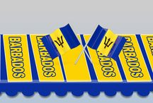 Barbados Product in Color Flag Logo / We have the newest Barbados product in color flag logo