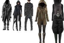Futuristic asian clothes