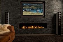 Trimline Balanced Flue Fireplaces / Balanced Flue Gas Fires with Unique Double Burner and ECO-Max Remote Control