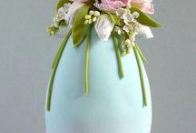 ovos com flores