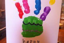 Hand and foot print art