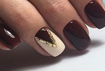 nails winter christmas gold