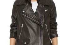 Leather jacket : The biker style for woman / Invest in the ultimate go-to piece - the biker jacket. You'll be suede for days with tans and buttermilks, cropped cuts and punched-out leather.