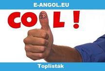 Toplisták / Ezekkel az érdekes toplistákkal egyszerre szórakozhatsz és gyakorolhatod angol nyelvtudásod.