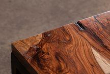 """Colección Natura """"Reclaimed Wood"""" / Muebles elaborados con Madera de árboles caídos."""