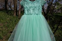 Mint dress for Little Princess (3 - 5 years old)