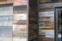 mixed wooden wall