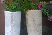 Omassa pihasta - from my yard / Kaikenlaista Itse tehtyä, romuromanttiseen puutarhaan. DIY to your garden