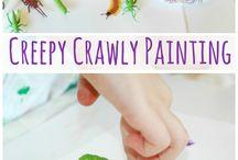 Art Projects for Kids / Proyectos Artisticos para Niños / Ideas creativas para pintar y dibujar.