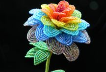 Beaded Flowers / This board is for French beaded flowers and bead-woven flowers as jewelry. Oh--beaded fruit as well. Oh. And beaded leaves and/or branches.  / by Jacqueline Dieudonné