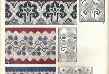 Жаккардовые узоры / Машинное вязание