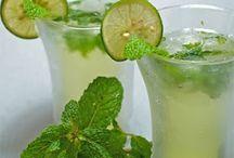agua de limón con yerbabuena