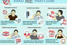 Infografike / Činjenice o zdravlju usta i zubi / Facts about dental health and teeth
