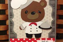 Card teddy bear parade
