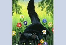 kočka grafika