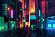 neon-city-cyber- isometric