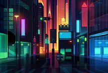 neon-city-cyber- isometric